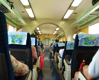 Well equiped train in Taiwan